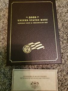 LINCOLN COIN AND CHRONICLES SET 2009 UNITED STATES MINT SILVER OUTER SLEEVE COA