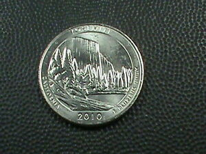 UNITED STATES  25 CENTS  2010 P   UNC   YOSEMITE    $ 3.99 MAX SHIPPING IN USA