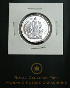 2012 CANADA HALF DOLLAR 50 CENT COIN UNCIRCULATED RIGHT FROM RCM ROLL