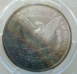 1881 S MORGAN DOLLAR PCGS MS 64 BEAUTIFUL COIN AWESOME REVERSE TONING LOOK