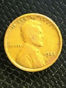 1923 P LINCOLN CENT ERROR COIN   DELAMINATED REVERSE   CIRCULATED