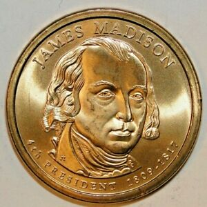 2007 P JAMES MADISON PRESIDENTIAL DOLLAR UNC   A6
