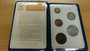 BRITAINS FIRST DECIMAL COIN SET UNCIRCULATED COMPLETE IN WALLET 1968 1971
