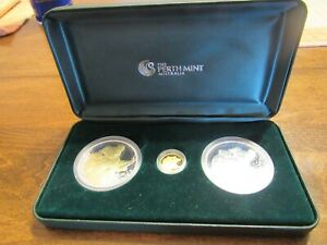 Click now to see the BUY IT NOW Price!  2008 PERTH MINT AUSTRALIAN KOALA 3 PIECE GOLD & SILVER SET LTD 385/1000