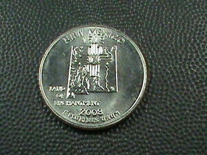 UNITED STATES   25 CENTS   2008 D  UNC  NEW MEXICO  $ 3.99 MAXIMUM SHIP IN USA