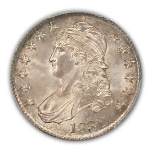 Click now to see the BUY IT NOW Price! 1830 50C SMALL 0 OVERTON 101 CAPPED BUST HALF DOLLAR PCGS MS66  CAC