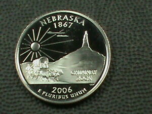UNITED STATES  25 CENTS  2006 S  PROOF  NEBRASKA  FROSTED DEEPCAMEO
