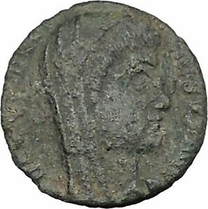 CONSTANTINE I THE GREAT CULT  ANCIENT ROMAN COIN CHRISTIAN DEIFICATION  I38121