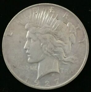 1927 D DENVER KEY DATE PEACE UNITED STATES .900 SILVER DOLLAR CC31