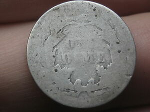 1887 SEATED LIBERTY SILVER DIME  LOWBALL HEAVILY WORN