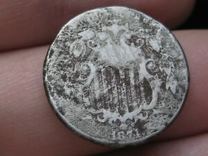 1874 SHIELD NICKEL 5 CENT PIECE