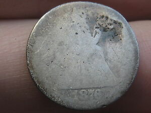 1876 P SEATED LIBERTY SILVER DIME  HEAVILY WORN
