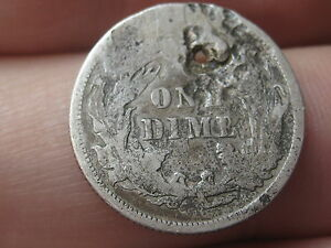 1890 SEATED LIBERTY SILVER DIME  HOLED