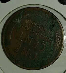 ERROR 1913 LINCOLN PENNY COIN CENT CUD ON REVERSE