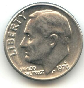 USA 1970D TEN CENT AMERICAN ROOSEVELT DIME 1970 D 10C 10 C EXACT COIN SHOWN