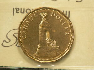 1994 CANADA $1 DOLLAR ICCS MS 64 REMEMBRANCE 2848