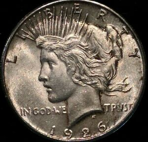 Click now to see the BUY IT NOW Price! 1926 $1 PEACE SILVER DOLLAR SUPERB GEM BU VIRTUALLY MARK FREE