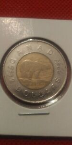 CANADA 1996 ONE $2 TOONIE ENGRAVED  NOT BY ME GET HIGH 999 OR 666 SMOKING QUEEN