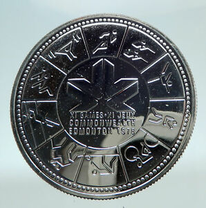 Click now to see the BUY IT NOW Price! 1978 CANADA UK QUEEN ELIZABETH II COMMONWEALTH GAMES PROOF SILVER $1 COIN I80831