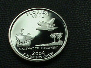 UNITED STATES   25 CENTS   2004 S   PROOF    FLORIDA    COMBINED SHIPPING