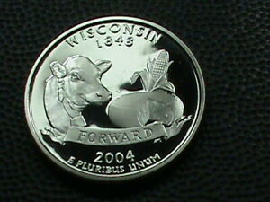 UNITED STATES   25 CENTS   2004 S   PROOF    WISCONSIN    COMBINED SHIPPING