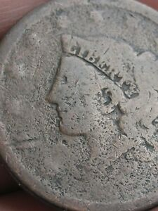 1835 1839 MATRON HEAD MODIFIED LARGE CENT PENNY