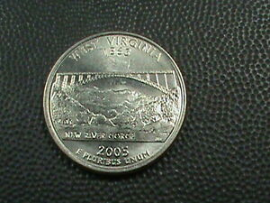 UNITED STATES  25 CENTS  2005 P  UNC  WEST VIRGINIA  COMBINED SHIPPING