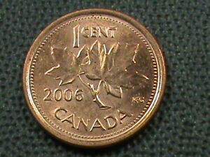 CANADA 1 CENT 2006 ML UNC  NOT MAGNETIC COMBINED SHIPPING .10 CENTS USA  .29 INT