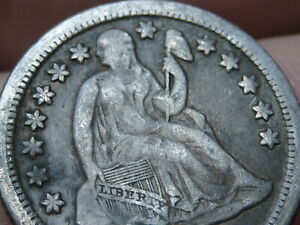 1852 O SEATED LIBERTY SILVER DIME  VF DETAILS