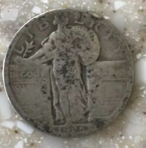 1925 P STANDING LIBERTY QUARTER CIRCULATED CONDITION 90  SILVER