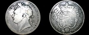 1820 GREAT BRITAIN 1/2 CROWN WORLD SILVER COIN   UK   ENGLAND   GEORGE IV