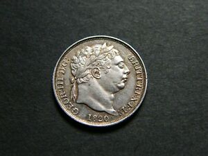 1820 GEORGE III 3RD SILVER SIXPENCE COIN