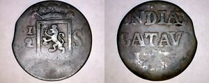 1820 26 NETHERLANDS EAST INDIES SUMATRA 1/2 STUIVER WORLD COIN   INDONESIA