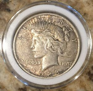 1923 LIBERTY PEACE DOLLAR UNITED STATES OF AMERICA  ENCAPSULATED  90  SILVER