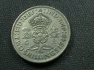 GREAT BRITAIN 2 SHILLINGS 1948 COMBINED SHIPPING .10 CENTS USA .29 INTERNATIONAL