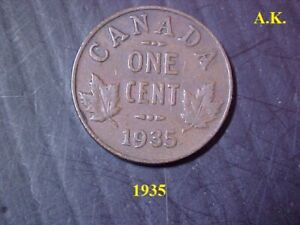 1935 CANADA ONE CENT