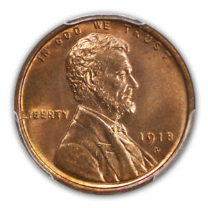 Click now to see the BUY IT NOW Price! 1918 D 1C LINCOLN CENT   TYPE 1 WHEAT REVERSE PCGS MS66RD