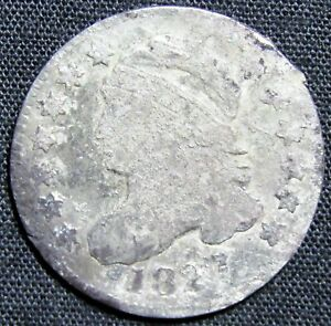 1827 US CAPPED BUST DIME SILVER COIN