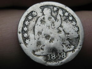 1848 O SEATED LIBERTY HALF DIME