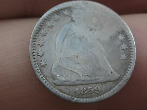 1859 O SEATED LIBERTY HALF DIME  LOW MINTAGE DATE