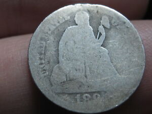 1891 SEATED LIBERTY SILVER DIME