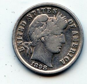 1898 P BARBER DIME  SEE PROMO