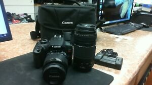 CANON EOS REBEL T6 18MP DIGITAL DSLR CAMERA  KIT WITH 18 55MM/75 300MM LENSES