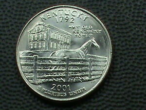 UNITED STATES   25 CENTS  2001 D   UNC   KENTUCKY   COMBINED  SHIPPING