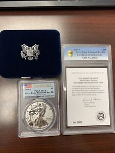 Click now to see the BUY IT NOW Price! 2019 S ENHANCED REVERSE PROOF SILVER EAGLE PCGS PR70 FIRST STRIKE GETTING GRADED