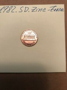 1982 LINCOLN PENNY SD ZINC WITH ERROR