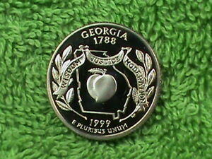 UNITED STATES 25 CENTS 1999 S PROOF GEORGIA  COMBINED SHIP .10 CENTS USA .29 INT
