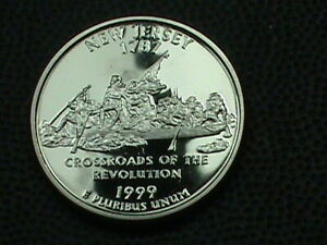 UNITED STATES 25 CENTS 1999 S PROOF  NEW JERSEY  COMBINED SHIPPING .10 CENTS USA