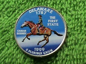UNITED  STATES  25 CENTS   1999 P   UNC  COLORIZED   DELAWARE  COMBINED SHIPPING