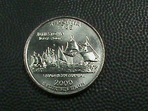 UNITED STATES   25 CENTS  2000 D  UNC  VIRGINIA   COMBINED SHIPPING